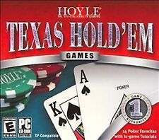 HOYLE TEXAS HOLD'EM (PC,2005) NEW,SEALED CD IN WHITE PAPER SLEEVE WINDOWS 10 YES