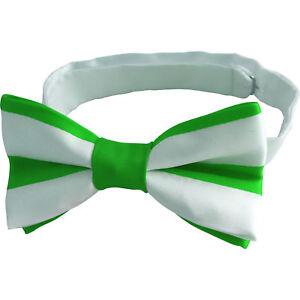 8d7c976f51f0 Irish Green and White St. Patrick's Day Ireland Blarney Bow Tie | eBay