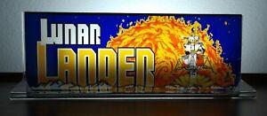 LUNAR-LANDER-Backlit-4-034-x-11-034-Marquee-w-The-Arcade-Light-Display