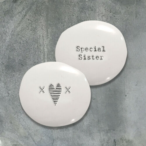 East of India Porcelain Pebbles Inspirational Sentiments Gift Token Favours Xmas