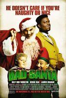 Bad Santa Movie Poster 2 Sided Original Final 27x40 Billy Bob Thornton