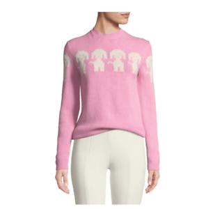 Grenoble Intarsia Pullover Sweater Moncler Langermet Hund Kvinder CZfzwq