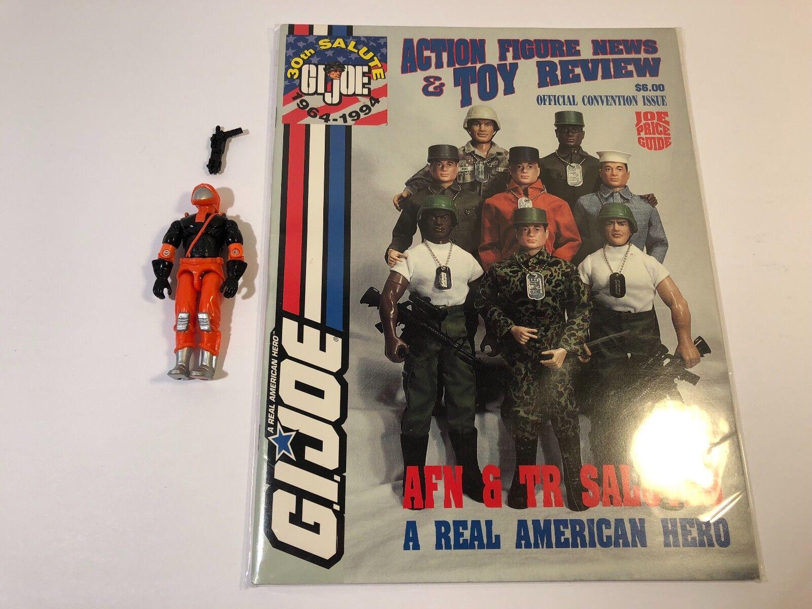 GI Joe 1993 Nitro Viper w  SUPER RARE Filecard & Convention Mag 100% Complete
