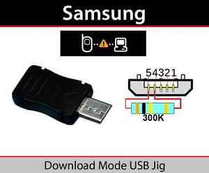 MICRO USB JIG DOWNLOAD MODE DONGLE FIX SAMSUNG GALAXY S6 ...