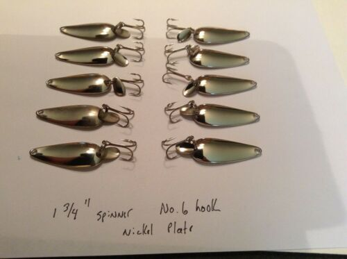 "Made in U.S.A Nickel Plated Casting Spoon Rig//Lure 1 3//4/"" NOS Fishing 10"
