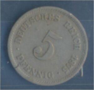 German-Empire-Jagerno-3-1875-D-ext-fine-Copper-Nickel-1875-5-Pfennig-7849158