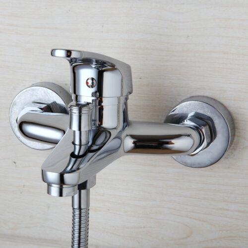 AS Bathroom Bathtub Wall Mount Mixer Faucet Chrome Tap /& Handheld Spray Set