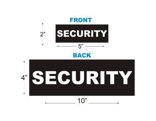 REFLECTIVE VELCRO® BADGES Pack of 2 Jacket Vest Front and back