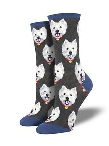 White-Westie-West-Highland-Terrier-Dog-Socks-Ladies-Girls-Dogs-Gift-Christmas