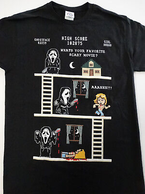Scream Pixel Story Ghost Face Horror Movie T-Shirt