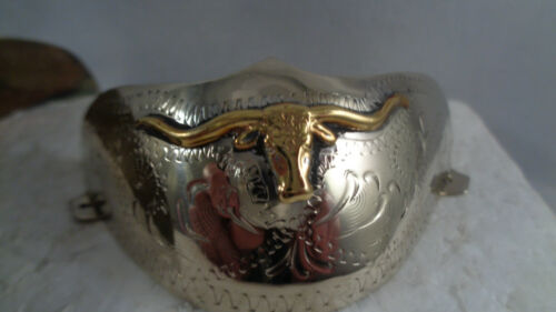 Texas Longhorn Boot Tip Cap Set  Rounded  Toe  Gold /& Silver Tone     Western