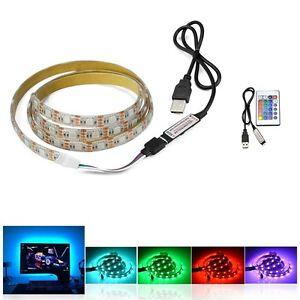 ruban-a-LED-USB-0-5m-a-5-metres-bande-de-lumiere-avec-telecommande-multicolores