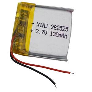 3-7V-130-mAh-Li-Polymerbattery-Li-po-282525-For-Glasses-GPS-sat-Nav-smart-watch