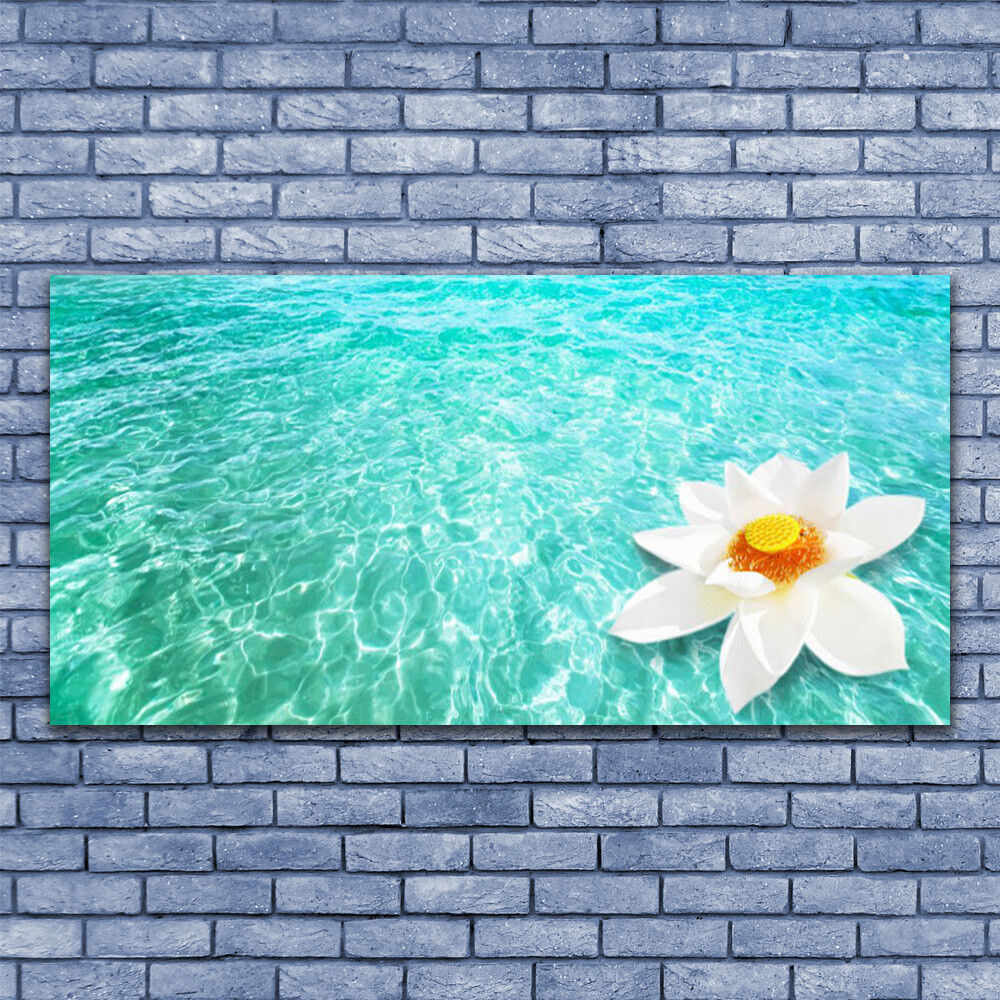 Glasbilder Wandbild Druck auf Glas 140x70 Wasser Blaume Kunst