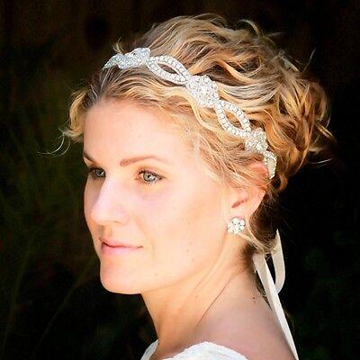 Wedding Tiara Women Rhinestone Hairband Bride Headband Lace Pearl