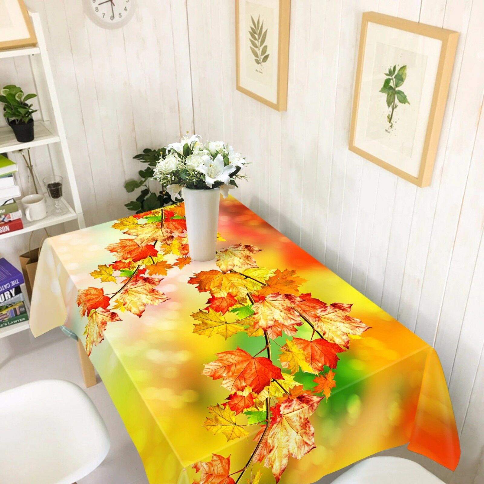 3D Leaves 789 Tablecloth Table Cover Cloth Birthday Party Event AJ WALLPAPER UK