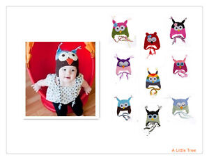 New-Cute-Kids-Baby-Girl-Boy-Knitted-Beanie-Wooly-Warm-Crochet-Owl-Hats-Caps