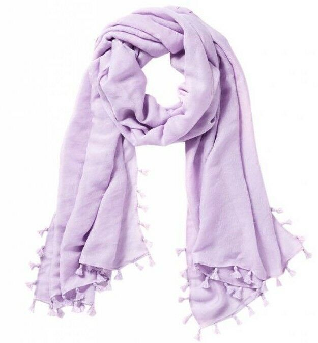 NEW Lilly Pulitzer LANA WRAP SCARF Light purplec Verbena Purple Tassels Metallic