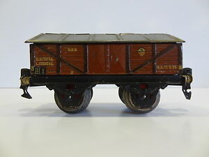 Wagon Mercancias Märklin 2 essieux - échelle 0 décennie 1930 Pratique D.r.b.