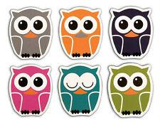 Kikkerland VINYL Fridge OWL Magnets Set of 6 different MG31 decorate your fridge