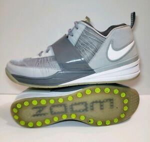 683ffa64b6418 Nike Zoom Revis Island 24 Grey White Men s Training Shoes 555776-010 ...