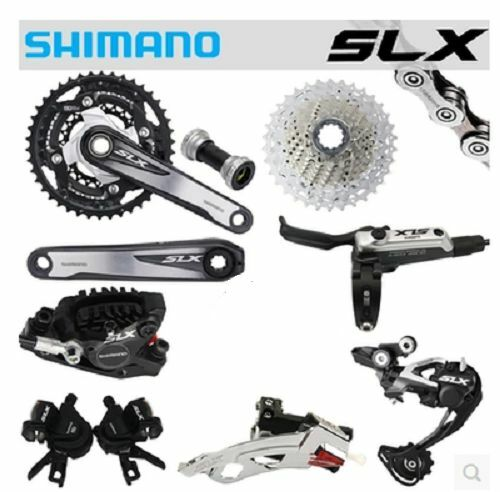 New SHIMANO  SLX M670 M675 3x10 Speed MTB Groupset W M675 Disc Brake 8 pcs  the best after-sale service