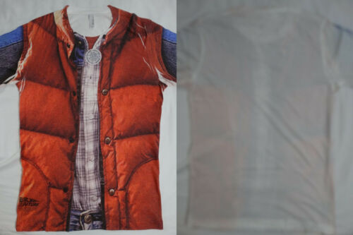 Back to the Future Mcfly Vest Costume 65//35 Front Only Sublimation Print T-Shirt