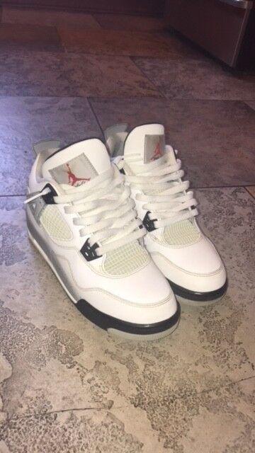 Nike air 4 jordan di cemento bianco 4 air dimensioni 6,5 giovent eccellente condizione 6933c4