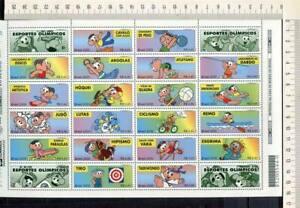 36495) Brasilien Brazil 2000 MNH Olympic G.Comics Ms X 2 (40v)