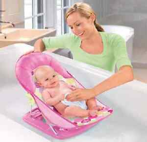 Baby Bather Newborn Bath Seat Travel Portable Girl Tub Chair Pink ...
