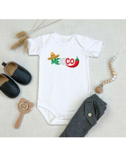 Mexico Best Shower Gift Cute Infant Flag Symbol Message Baby Novelty Bodysuit