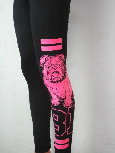 Neu Leggings XS-XL mit Bully engl  Bulldogge Hundemotiv Sommerleggings Viskose