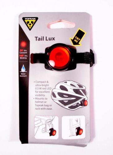TOPEAK Tail Lux Helmet or Bag Mount Bike LED Light 0.5w red LED TMS071
