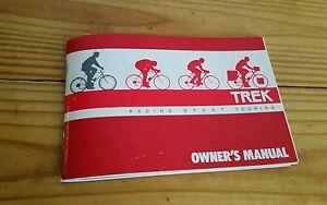 vintage trek owner s manual racing sport touring 80 s waterloo road rh ebay ie trek owner's manual safari trek owner's manual