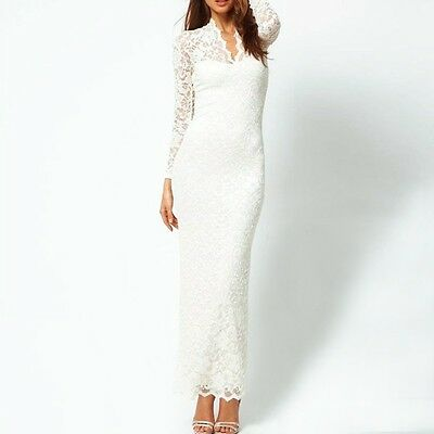 Womens Formal Party Full Lace Prom Gown Evening Cocktail Long Maxi Dress Fashion
