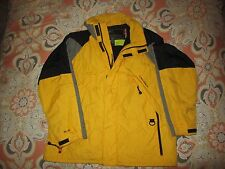 Vintage 90s Polo RL Ralph Lauren Winter Ski Jacket Men's XL yellow and Gray blk