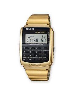 CASIO-CA-506G-9AEF-Taschenrechner-Uhr-retro-vintage-goldfarben-NEU-OVP