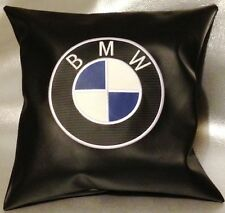 """BMW logo faux leather Cushion Cover 16"""""""