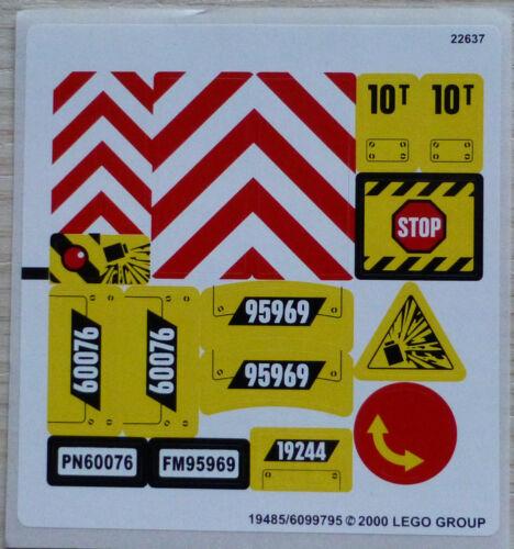 LEGO® City Aufkleber Sticker für 60076 Abriss-Baustelle Kran Bagger LKW NEU