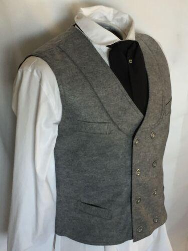 Medium Men/'s Gray Deadwood Double Breasted  Vest