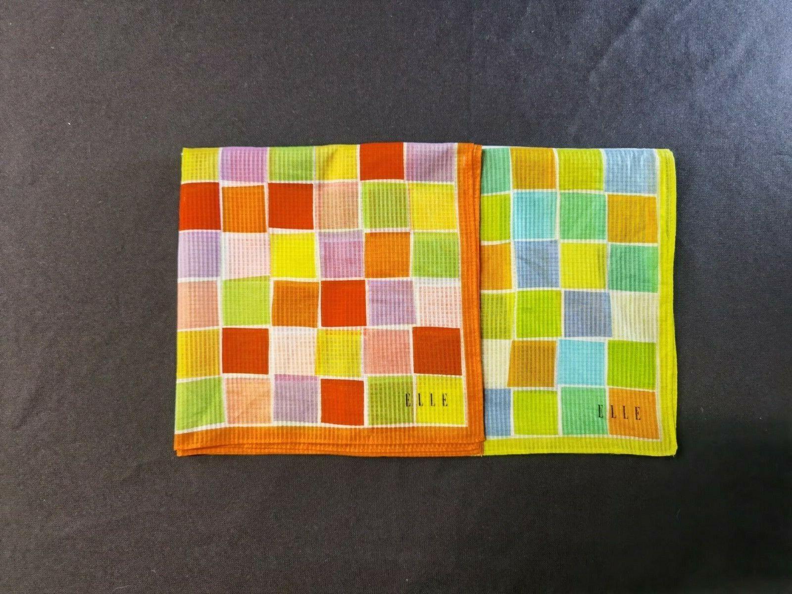 Set of Two Colour Pop Men's Handkerchiefs by Elle