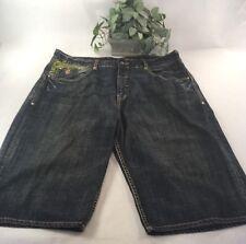 """Roca Wear 42"""" Blue Jeans Shorts, Embellished, Men's, Long, Excellent"""