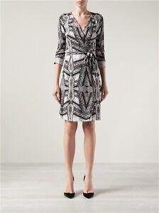 Neuf Avec Etiquettes 398 Diane Von Furstenberg Dvf New Julian Deux Robe Portefeuille 4 Ebay