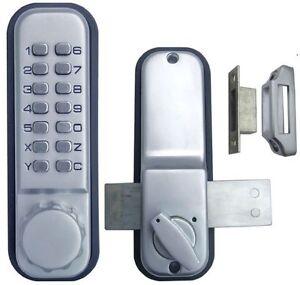 2th Generation Mechanical Weatherproof Pushbutton Glass Password Door Lock