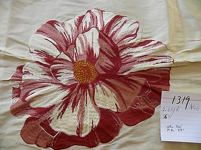 HINES & CO GRANDE INDIENNE SILK EMBROIDERY CAMELIA fr UK MALABAR 2.625Y #1319