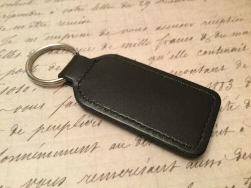 AUDI PRINTED BLACK LEATHER KEY RING FOB  OBLONG A Q 1 2 3 4 5 6 7 8 R RS TT