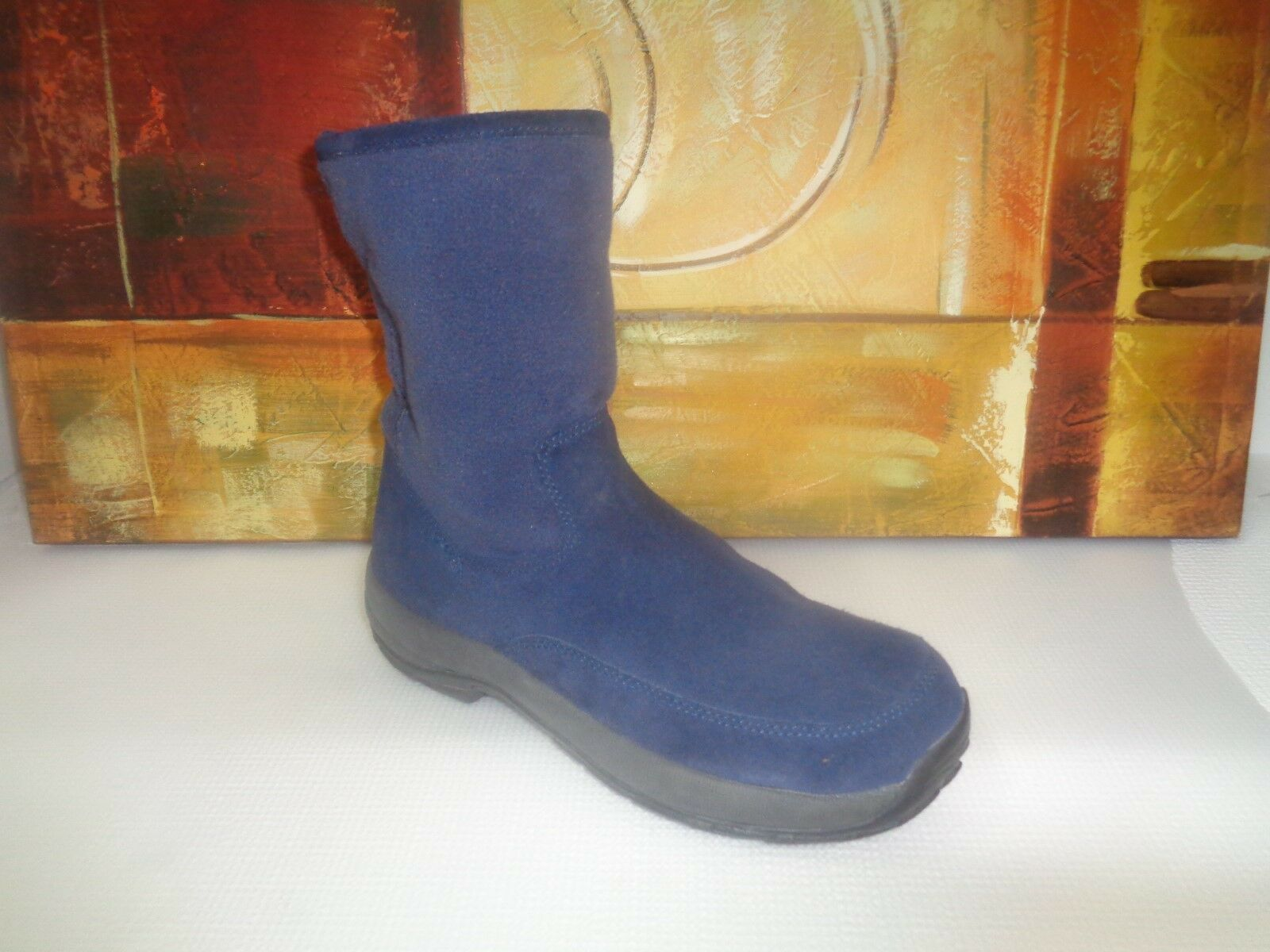 L.L. Bean Suede Leather Ankle Boots Royal bluee Women's Size 9