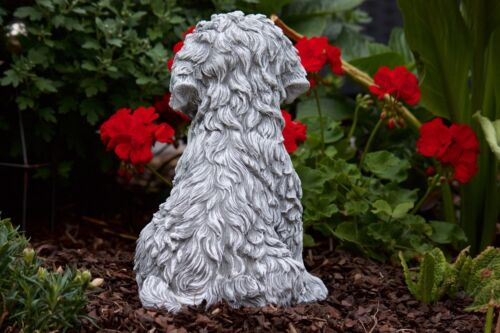 Stone carving dog shih tzu resistant to frost weathering garden deco