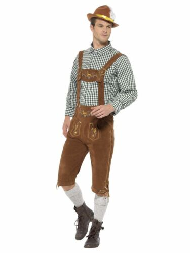Adult Mens Oktoberfest traditional deluxe Bavarian fancy dress costume outfit