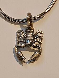 Collier chaine serpent + pendentif Scorpion en argent massif 925 //Necklace